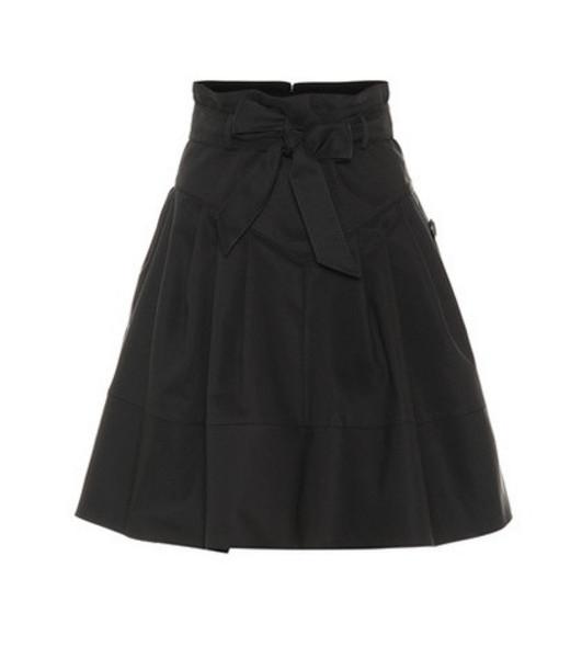 Miu Miu Cotton-blend tie-waist skirt in black