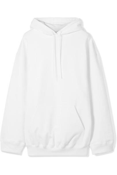 top oversized white cotton