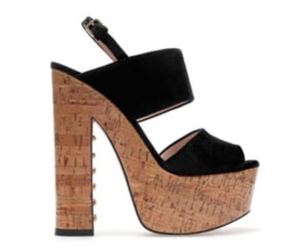 shoes summer summer heels block heels black heels