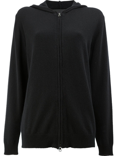 Blackyoto hoodie zip women black sweater