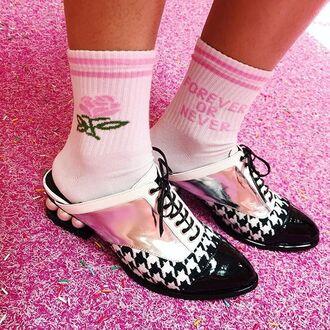 socks yeah bunny pink pastel forever rose