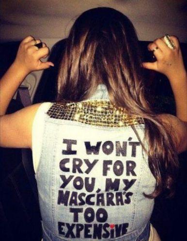 I won't cry for you; denim studded vest