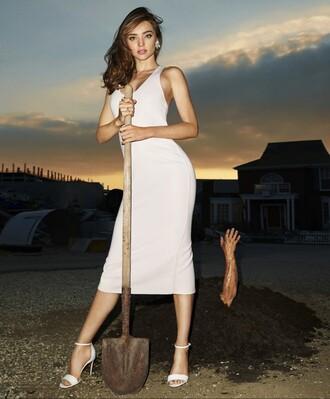dress midi dress miranda kerr sandals summer dress editorial