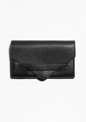 bag wallet black leather leather wallet minimalist gift ideas