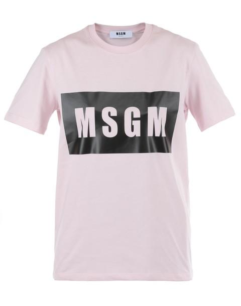 MSGM t-shirt shirt cotton t-shirt t-shirt cotton pink top