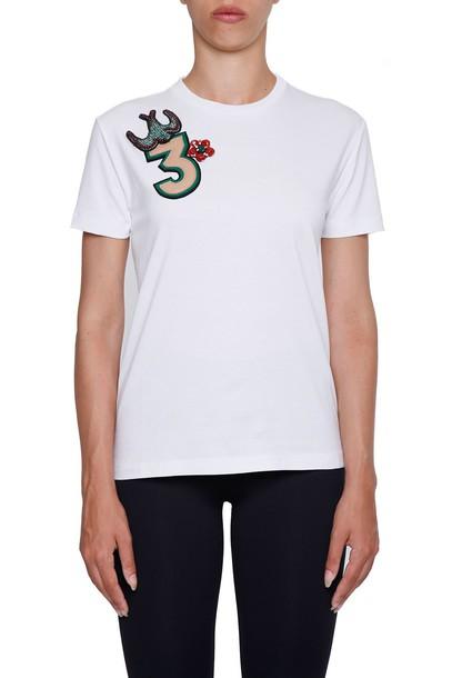 Miu Miu t-shirt shirt t-shirt embroidered cotton top