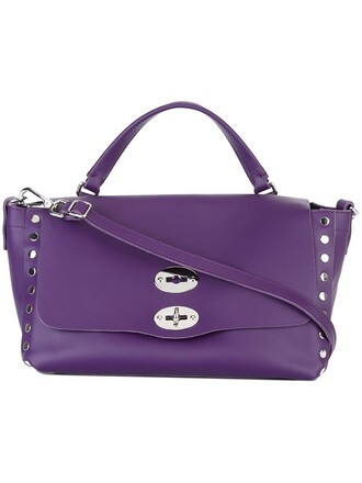 metal women classic leather purple pink bag