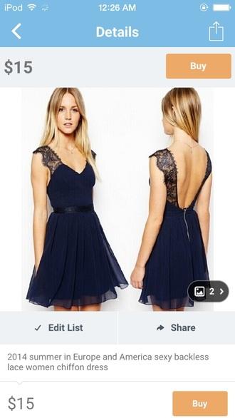 dress navy lace dress lace dress low back dress short dress