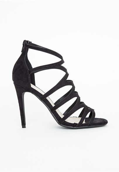 Alanah laser cut sandals in black