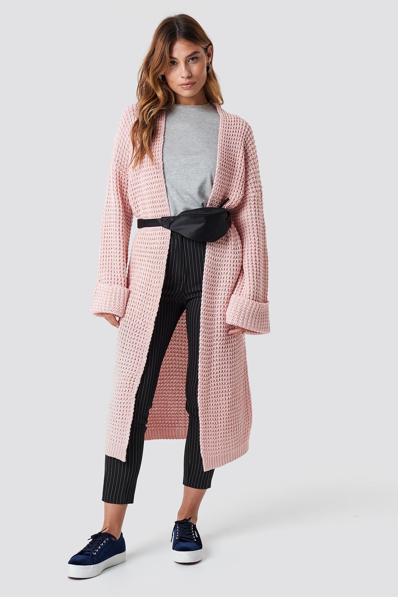 Oversized Chunky Sleeve Knit Dusty Pink