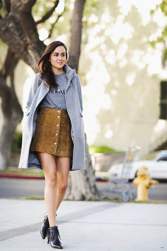 style scrapbook blogger skirt shoes t-shirt coat bag