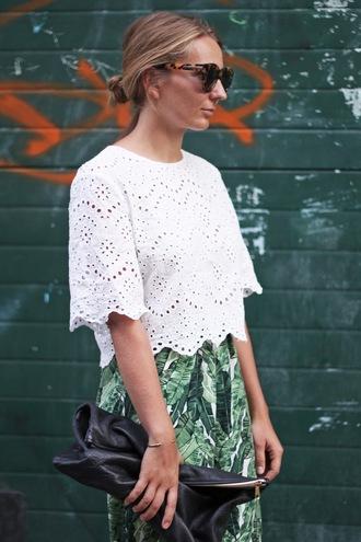 jane's sneak peak blogger top zara white top crochet top