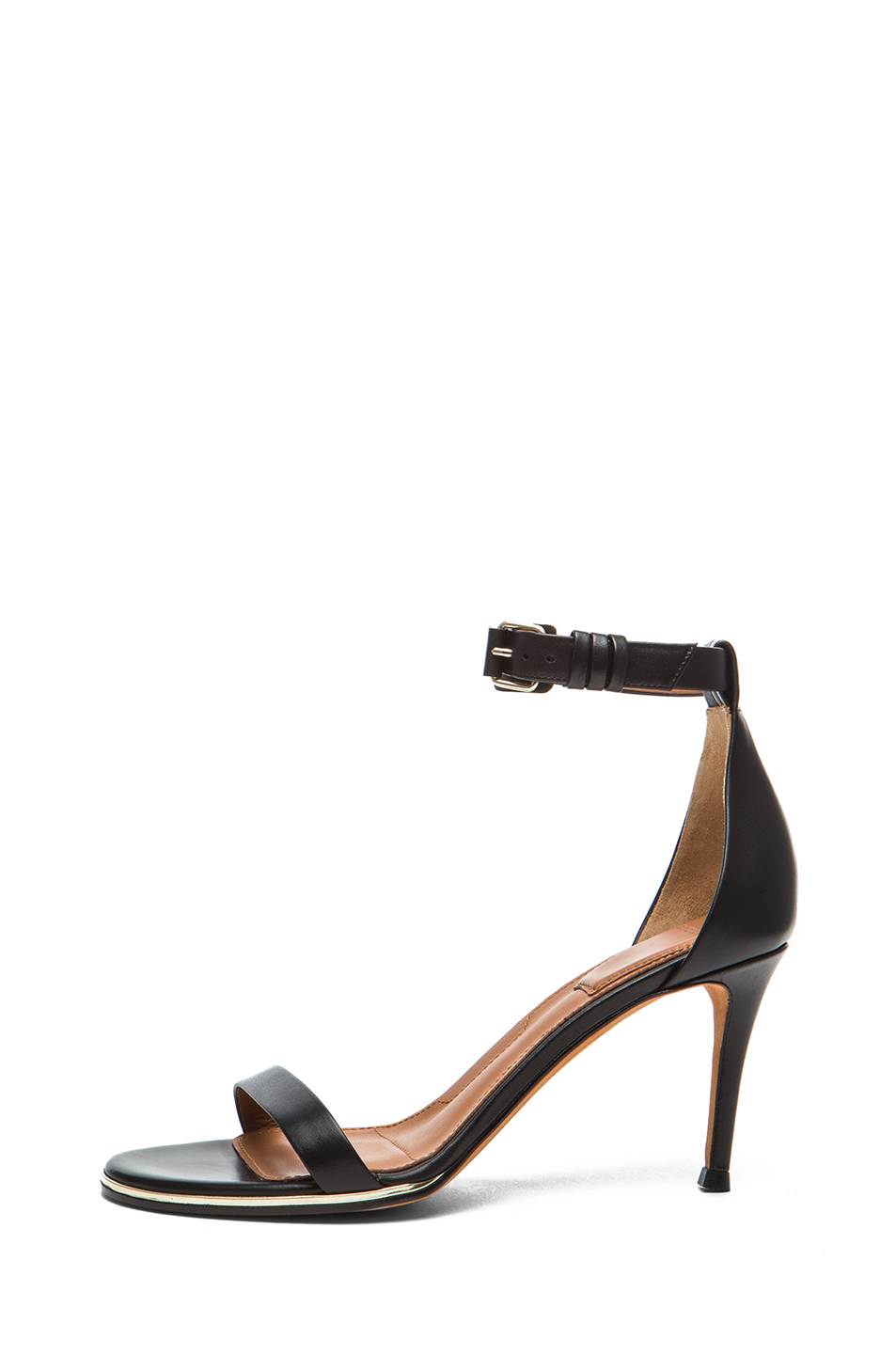 GIVENCHY|Nadia Calfskin Leather Sandals in Black