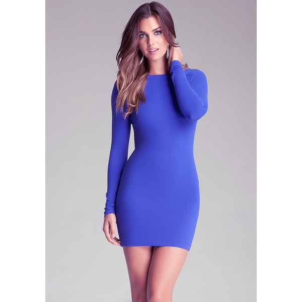 Bebe Long Sleeve Bodycon Dress - Polyvore