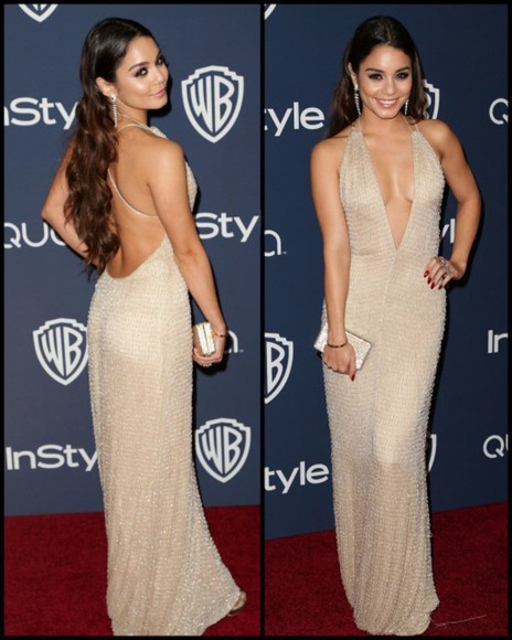 dress formal formal dress vanessa hudgens gold sequins bag clutch nude dress