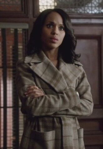 coat brown plad olivia pope kerry washington scandal