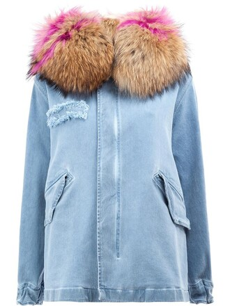 coat denim women spandex cotton blue