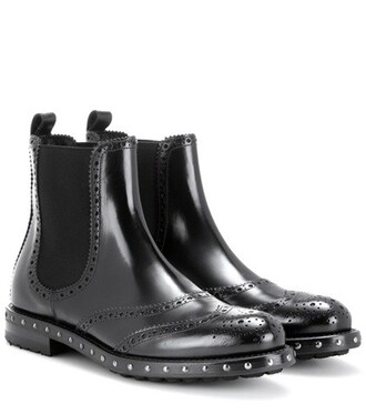 embellished boots chelsea boots black shoes