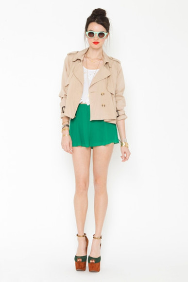 nastygal jacket cropped trench coat trenchcoat
