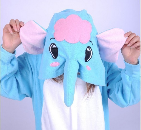 2014 new design pyjamas adult animal onesie lovely elephant pajamas sleepsuit for unisex