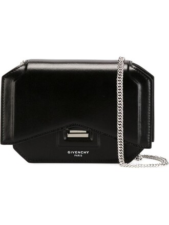 bow mini bag shoulder bag black