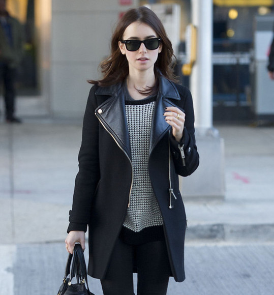 coat black beautiful style shop winter cold warm