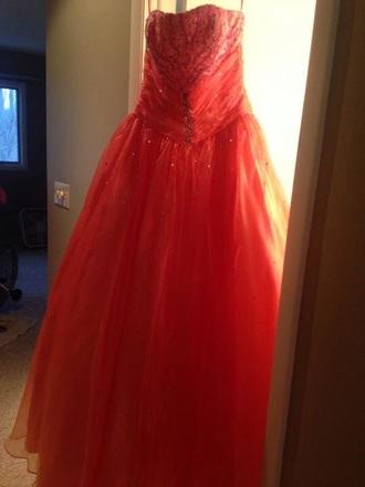 fluffy prom dress dress coral coral dress prom dress long prom dress