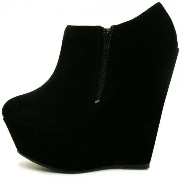 zip black suede ankle boots boots suede suede boots black ankle boots wedge boots black wedges