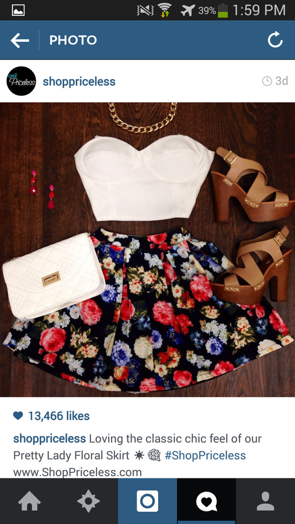 top skirt flowers floral floral skirt bottom