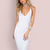 Sleek Cami Bodycon Midi Dress IVORY -SheIn(Sheinside)