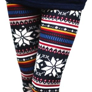 Amazon.com: Fenhe HOT Womens Ladies Soft Casual Warm Knitted Colorful Crystal Snowflake Pattern Fashion Leggings Tights Pants Trousers: Kitchen & Dining