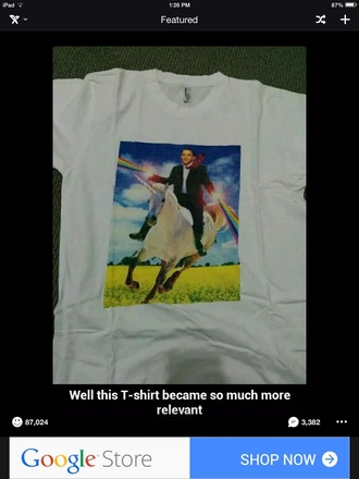 t-shirt funny white obama unicorn quote on it unicorn shirt