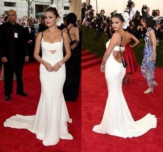 dress selena gomez white dress