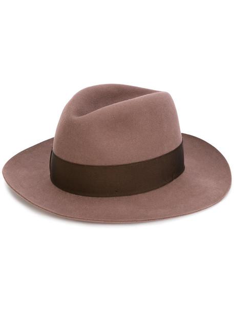 women classic hat wool brown