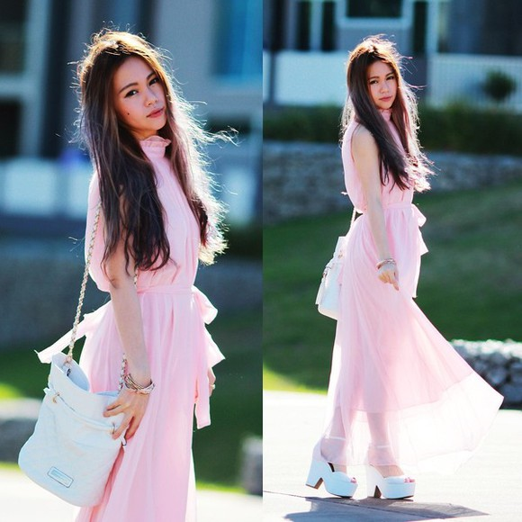 dress shoes pink dress maxi dress white light pink