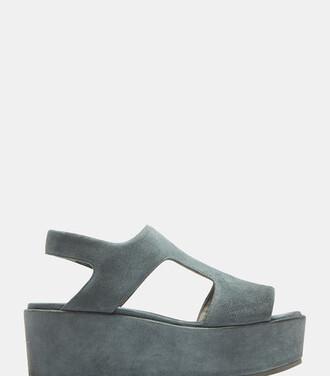 sandals platform sandals blue shoes