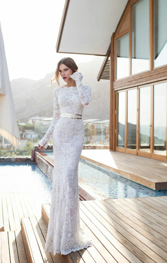 dress white bridal bride dresses elegant white long dress white