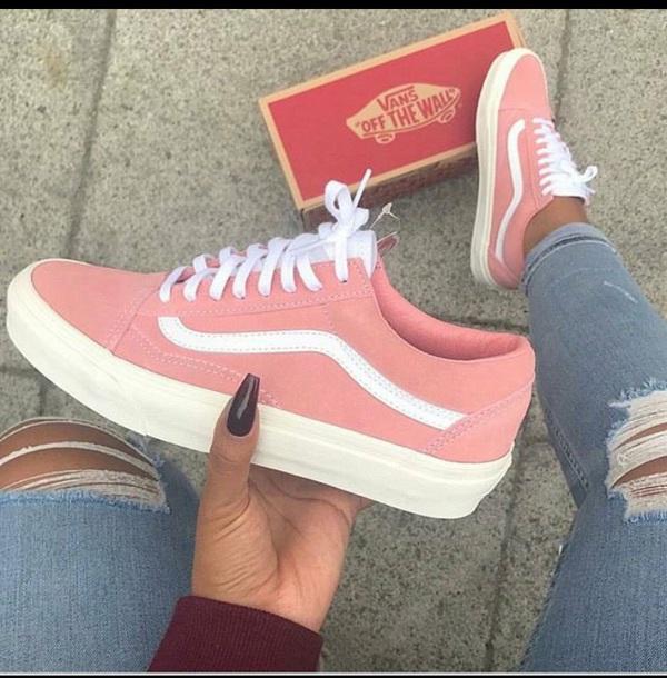 shoes vans pink vans