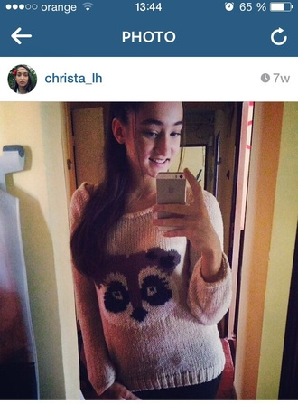 blouse christmas sweater brown beige cute sweater