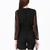 Black Deep V-neck Long Sleeve Playsuit - Sheinside.com