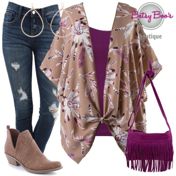 b63b737f69a58 cardigan floral kimono denim jeans jewelry handbag purse ootd ootn  beautiful style fashion chic