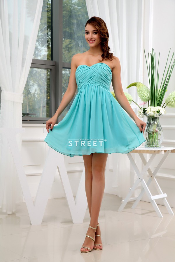 dress sweetheart chiffon