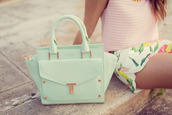 bag,mint,mint green makeup bag,handbag,pastel green