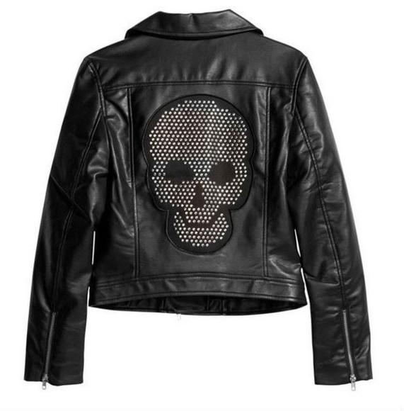 jacket skull leather jacket