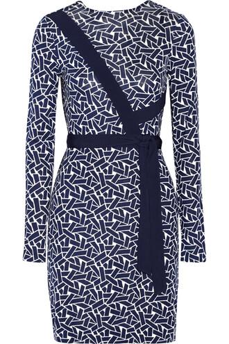 dress wrap dress silk navy