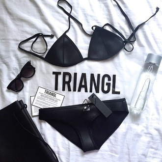 swimwear black triangle