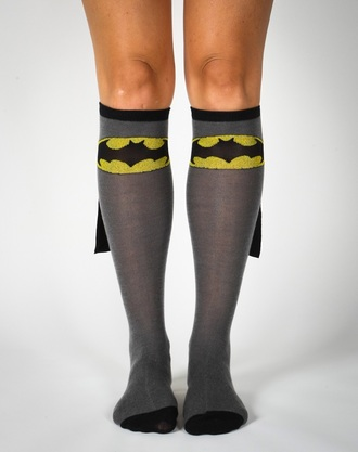 socks batman grey gray yellow cape