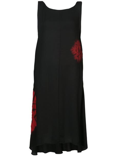 Y's dress midi dress sleeveless women midi black