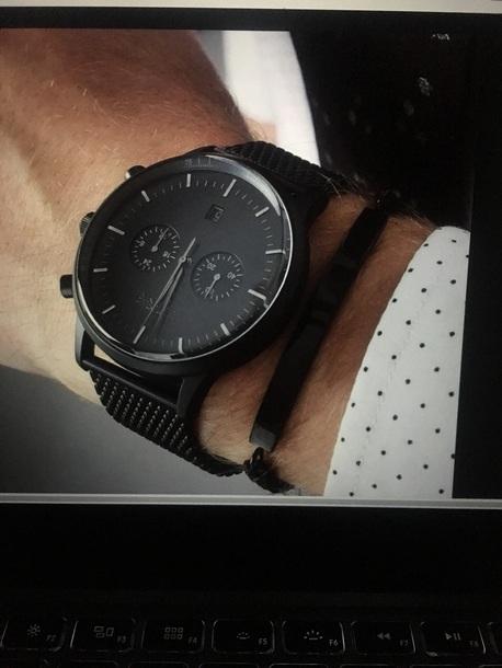 watch black watch mens accessories