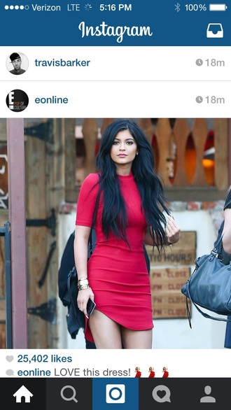 dress high-low dresses kylie jenner red dress sexy party dresses summer dress fashion celebrity style